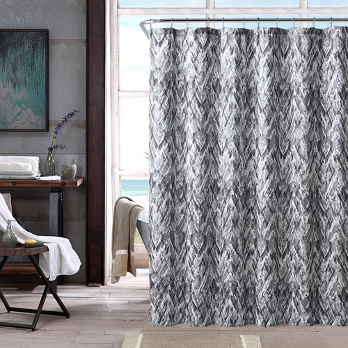 Neila Grey Shower Curtain