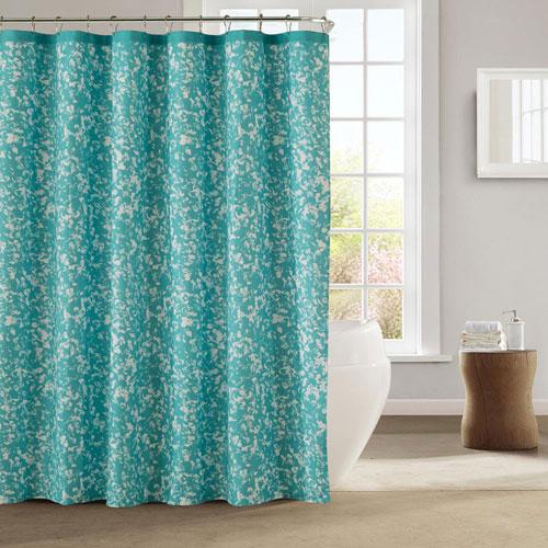 Susie Hazy Aqua Shower Curtain
