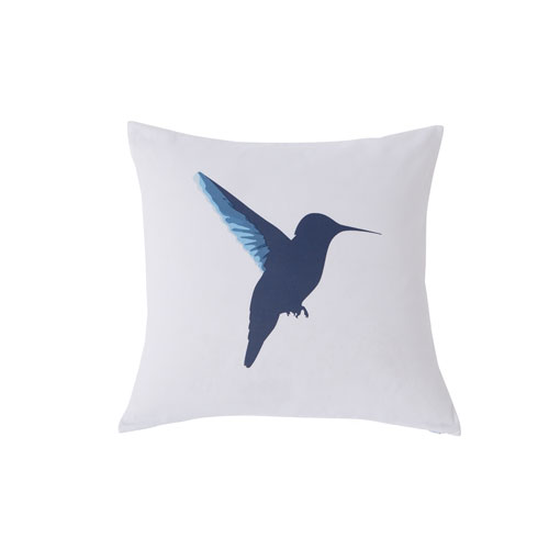 Vicki Blue and Yellow 20 In. Throw Pillow with Feather Fill