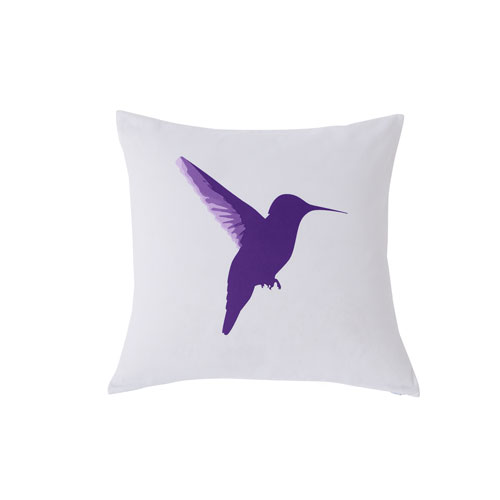 Kensie Home Vicki Purple Spice 20 In. Throw Pillow with Feather Fill