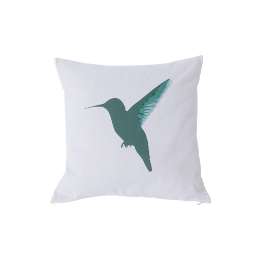 Vicki Green and Magenta 20 In. Throw Pillow with Feather Fill