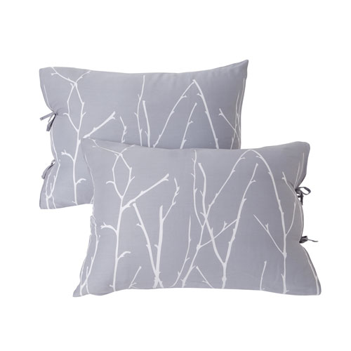Vicki Silver and Black Left Standard Pillow Sham