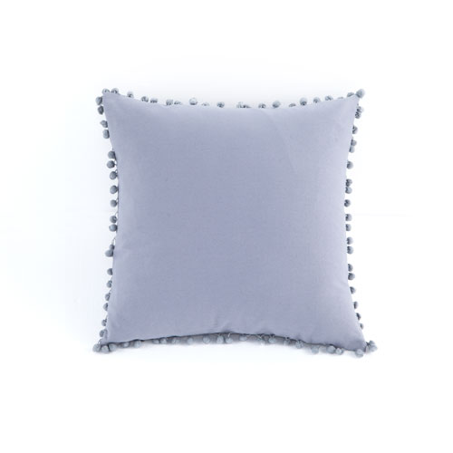 Lala + Bash Home ElodieStorm Gray 18 In. Pompom Throw Pillow Shell