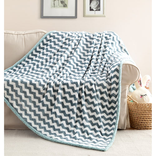 Lala + Bash Home Fifi Sherpa Green Mist Throw