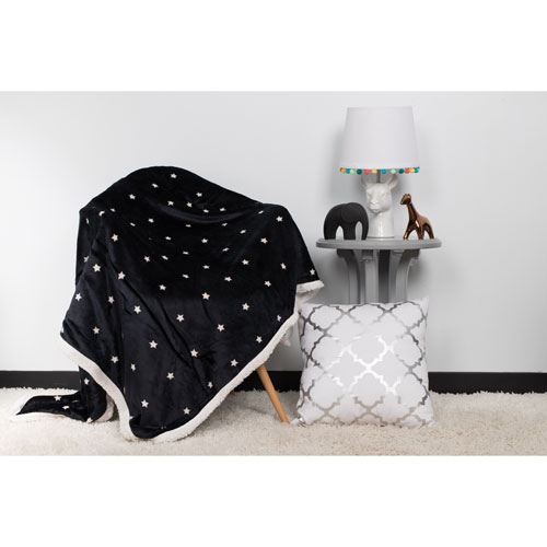 Lala + Bash Home Gruden Bash Sherpa Navy Throw