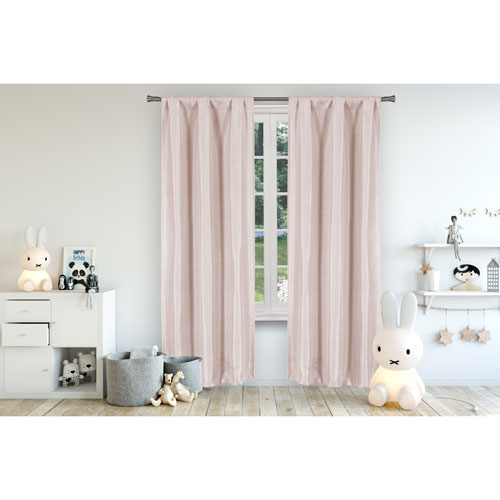 Miranda Pretty Pink 84 x 37 In. Blackout Curtain Panel Pair