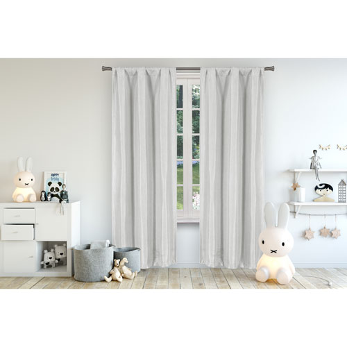 Miranda Grey 96 x 37 In. Blackout Curtain Panel Pair
