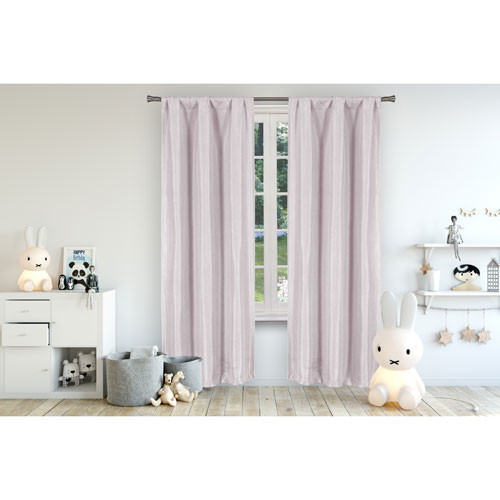 Lala + Bash Home Miranda Lavender 96 x 37 In. Blackout Curtain Panel Pair
