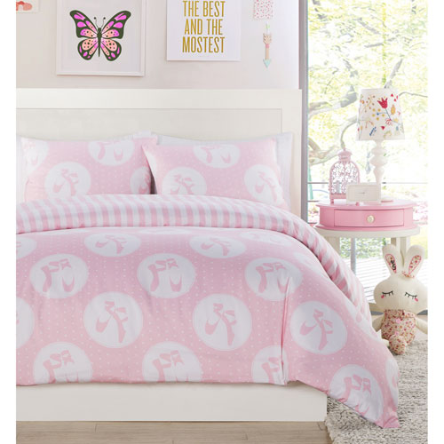 Plie Dot Pink Twin Two-Piece Comforter Set