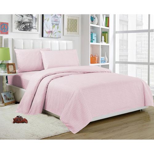 Trina Full Four-Piece Pretty Pink Sheet Set