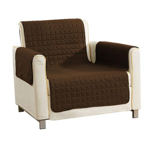 Duck River Textile Aime Brown Reversible Waterproof Microfiber Chair Cover
