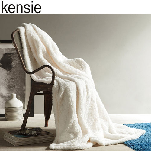 Andover Ivory Sherpa Throw