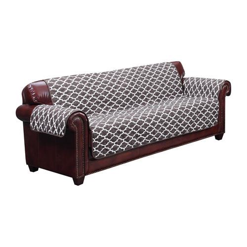 Coby Chocolate Reversible Water Resistant Microfiber Sofa Cover