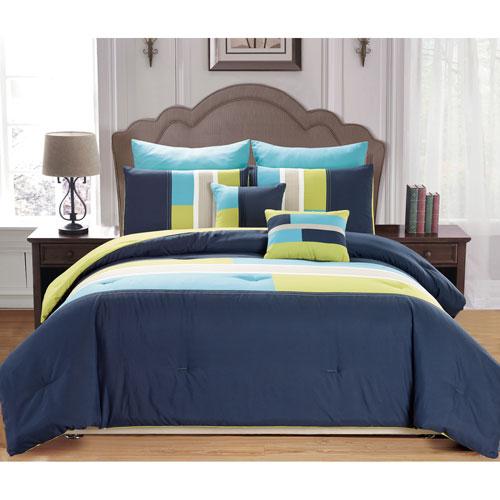 Duck River Textile Desiree Blue Queen Seven-Piece Comforter Set