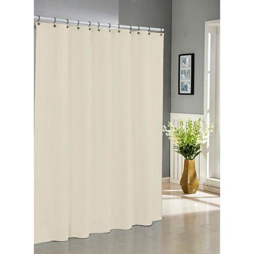 Everett Ivory Jacquard Shower Curtain