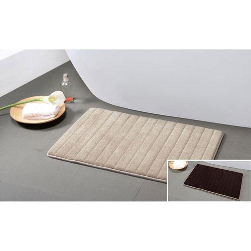 Memory Foam Mocha-Chocolate Reversible Bath Mat