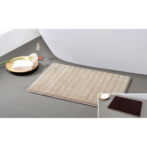 Duck River Textile Memory Foam Mocha-Chocolate Reversible Bath Mat