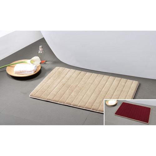 Memory Foam Red-Tan Reversible Bath Mat