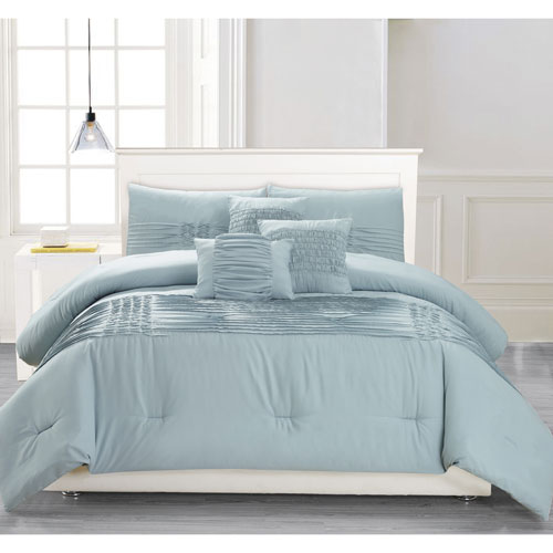 Geona Ether Blue Full/Queen Six-Piece Comforter Set