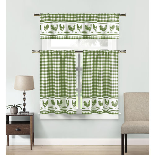 Duck River Textile Hellen Sage Three-Piece Kitchen Tier