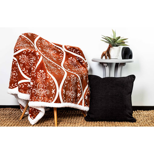Kerchner Terracotta Sherpa Throw