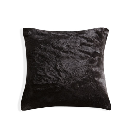 Duck River Textile Kodiak Black Fur 20 In. Throw Pillow Cover