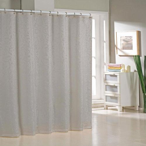 Livingston Silver Jacquard Shower Curtain