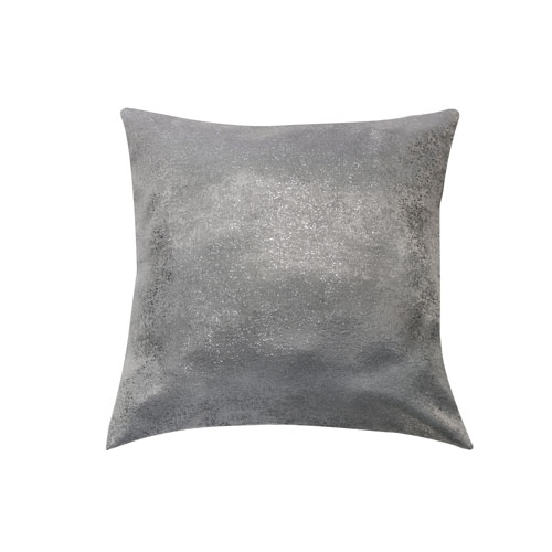 Maddie Silver 20 In. Throw Pillow Cover