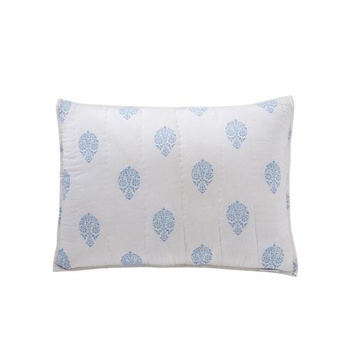 Mayla Blue Cotton Standard Sham