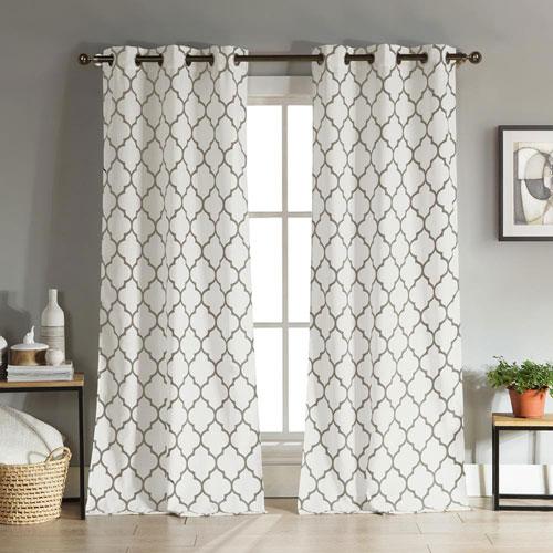 Mason Linen Look Gray 96 x 36 In. Grommet Panel Pair