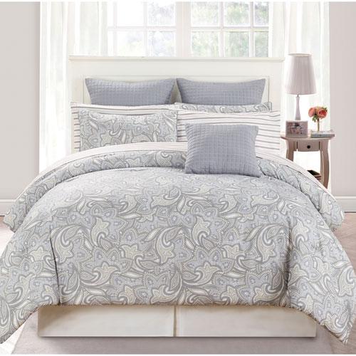 Mathylda Taupe Queen Ten-Piece Comforter Set