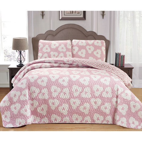 Duck River Textile Mccubbins Blush Full/Queen Three-Piece Bedspread Set