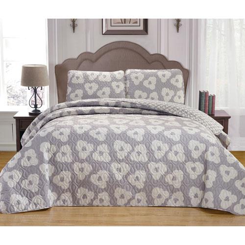 Mccubbins Platinum Full/Queen Three-Piece Bedspread Set