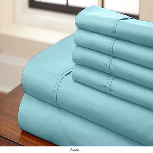 Aqua Full Six-Piece Sheet Set