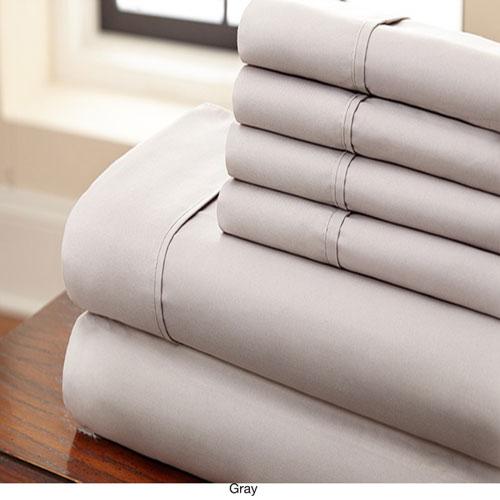 Gray Full Six-Piece Sheet Set