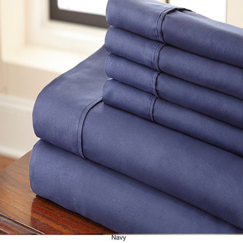 Navy Full Six-Piece Sheet Set