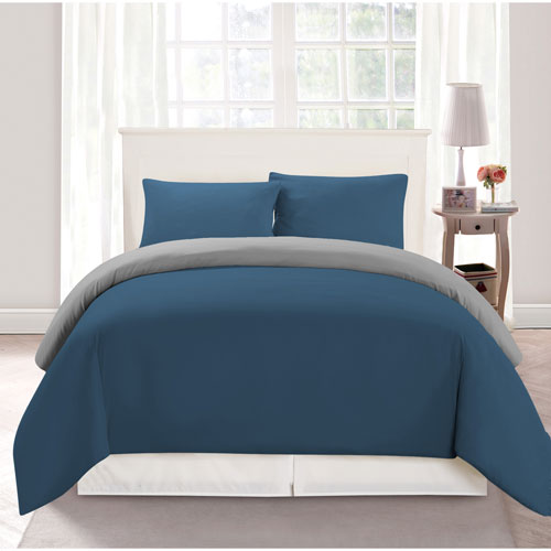 Duck River Textile Samantha Blue and Light Grey Twin Two-Piece Comforter Set