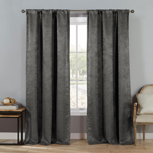 Duck River Textile Steena Gray 84 x 30 In. Panel Pair