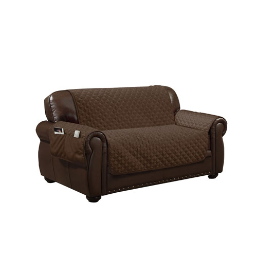 Wallace Chocolate Water Resistant Loveseat Cover