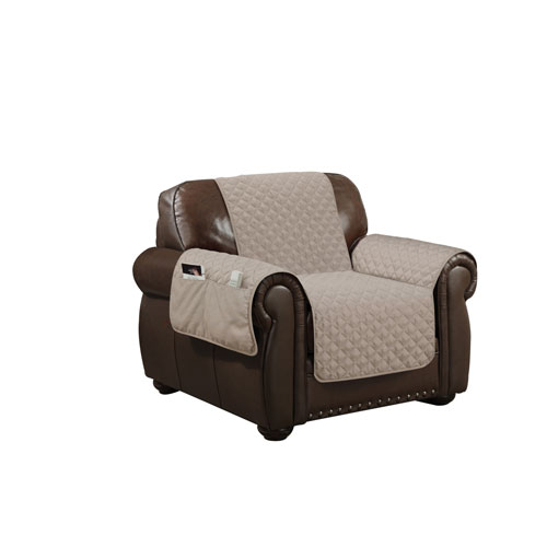 Duck River Textile Wallace Taupe Water Resistant Chair Cover