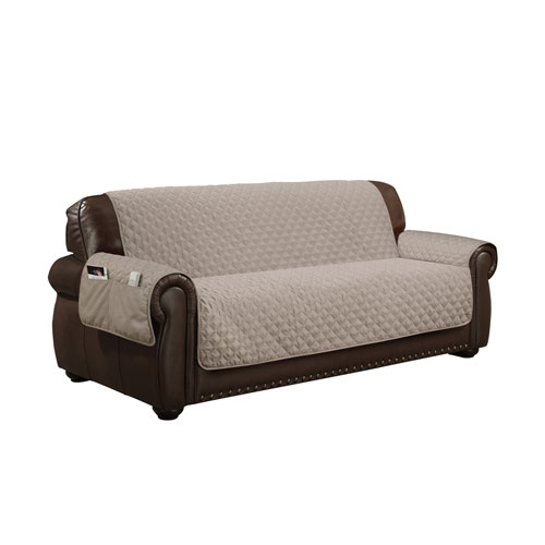 Wallace Taupe Water Resistant Sofa Cover
