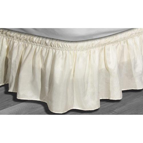 Duck River Textile Waldorf Beige Twin/Full Microfiber Bed Ruffle Skirt