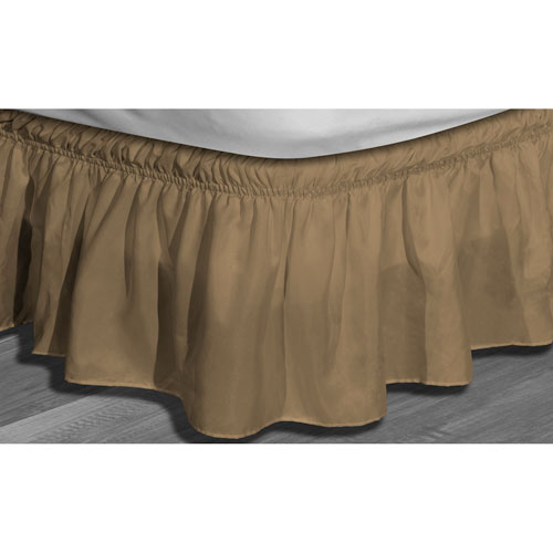 Waldorf Mocha Twin/Full Microfiber Bed Ruffle Skirt