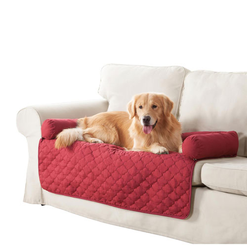 Wubba Garnet-Natural Small Dog Bed Couch Cover