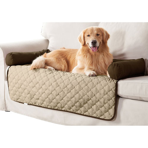 Wubba Chocolate-Natural Large Dog Bed Couch Cover