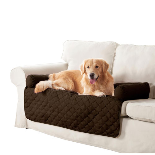 Wubba Garnet-Natural Large Dog Bed Couch Cover