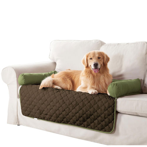 Wubba Sage-Chocolate Large Dog Bed Couch Cover
