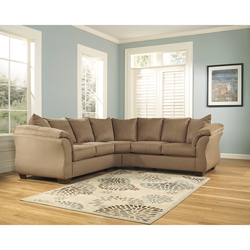Signature Design by Ashley Darcy Sectional in Mocha