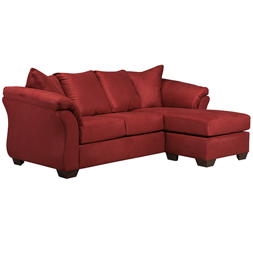 Darcy Sofa Chaise in Salsa