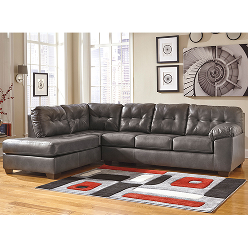 Signature Design by Ashley Alliston Sectional with Left Side Facing Chaise in Gray